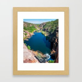 Panoramic view from above at Edith Falls, Australia. Framed Art Print