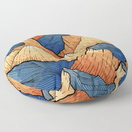 The Sea Peak Pattern Floor Pillow