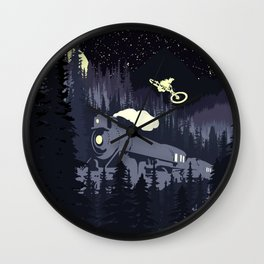 Over The Train Wall Clock
