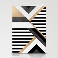 stripe Stationery Cards featuring Stripe Combination by Elisabeth Fredriksson