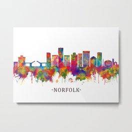 Norfolk Virginia Skyline Metal Print
