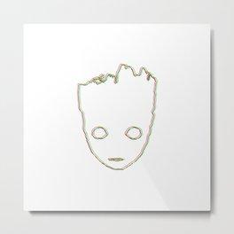 Baby ɢʀᴏᴏᴛ 3D style Metal Print