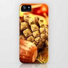 Arbores autumnales effectu iPhone Case