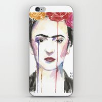 frida iPhone & iPod Skins featuring Frida by SirScm