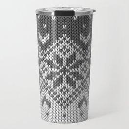 Winter knitted pattern 8 Travel Mug