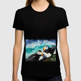 Puffins - Always together - by LiliFlore T-shirt