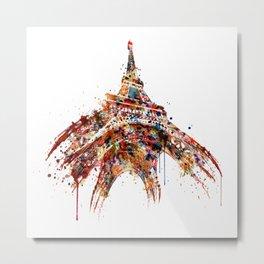 Eiffel Tower Watercolor Metal Print