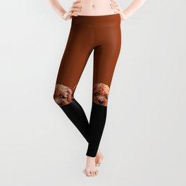 Toy poodle-reddish brown Dog illustration original painting print Leggings