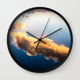 Cloud reflection Wall Clock