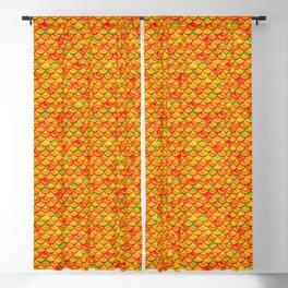 Orange Green Scales Blackout Curtain