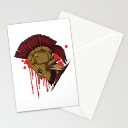 Spartan Warrior | Sparta Head Fighter Spartiate Stationery Cards