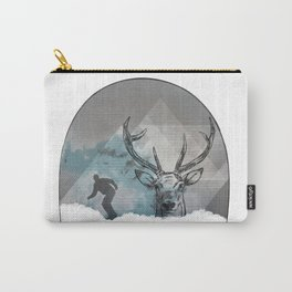 Cool Snowboarding Pattern Carry-All Pouch