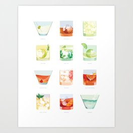 Cocktail Hour: Classic Cocktails Poster Art Print
