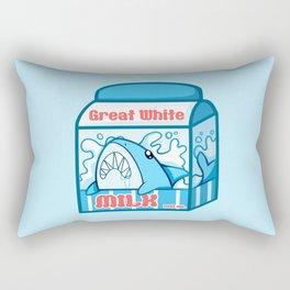 Great White Milk Rectangular Pillow