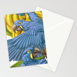 Hyacinth macaws and bananas Stravaganza. Stationery Cards
