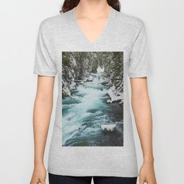 The Wild McKenzie River - Nature Photography Unisex V-Neck