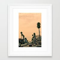 los angeles Framed Art Prints featuring Los Angeles  by Andre Elliott
