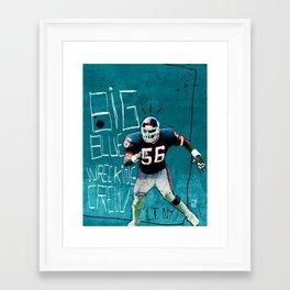 NY Giants' Lawrence Taylor Framed Art Print