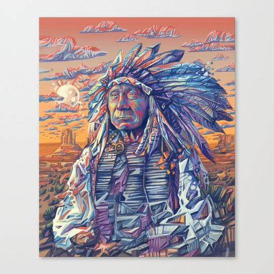 native american portrait-red cloud Canvas Print