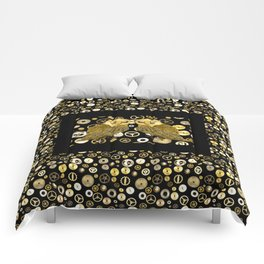Cogs and Owls Comforters