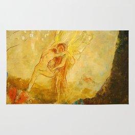 "Odilon Redon ""Jacob Wrestling with the Angel"" Rug"
