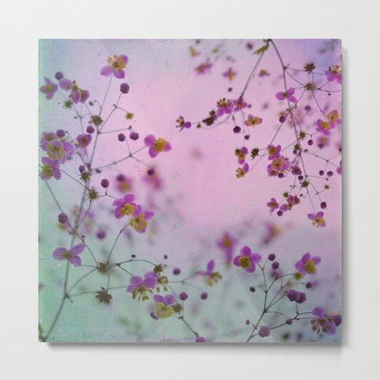 Vintage Little Flowers Metal Print