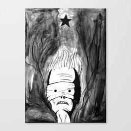 Lazarus 1 - Bowie Blackstar tribute - version Canvas Print