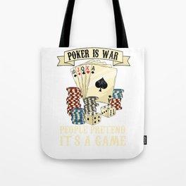 Poker Card Player Texas Holdem Poker Face Tote Bag