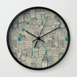 windows teal Wall Clock