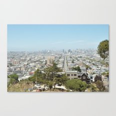 Almost all of San Francisco Panorama as seen from Bernal Heights Hill Canvas Print