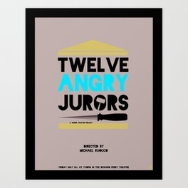 Twelve Angry Jurors Art Print