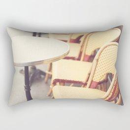 Paris Cafe, Classic Parisian coffee chairs Rectangular Pillow