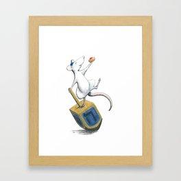 Dreidel Dreidel Dreidel Framed Art Print