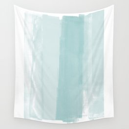 Pale Turquoise Abstract Coastal Colors Painting Wall Tapestry