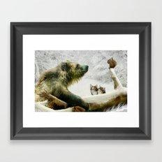 Bear, Squirrel and Kitten Framed Art Print