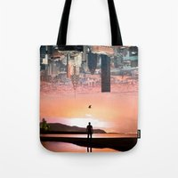 cityscape Tote Bags featuring Cityscape by Enkel Dika