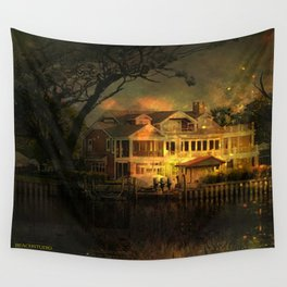 Spooky Boathouse Wall Tapestry