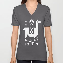 Llamas Unisex V-Neck