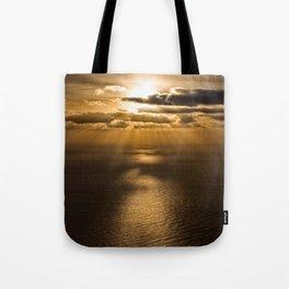 Sunrise over the Atlantic ocean Tote Bag