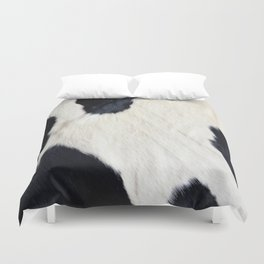 Cowhide Black and White Duvet Cover