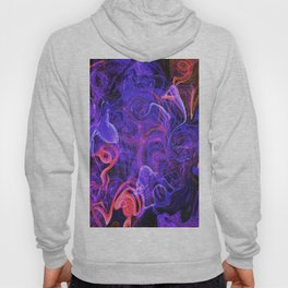 Purple Speckled Abstract Illustration Hoody