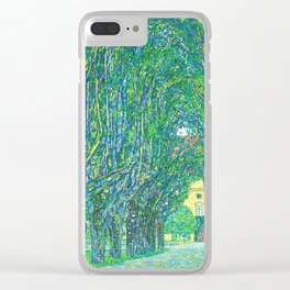 Gustav Klimt - Allee im Park von Schloss Kammer (new editing) Clear iPhone Case