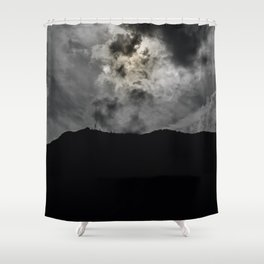 The gray sand Shower Curtain
