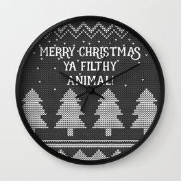 Merry Christmas ya filthy animal! -Black Wall Clock