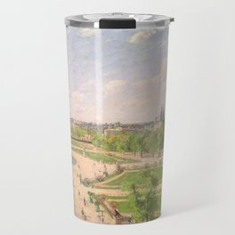 """Camille Pissarro """"The Garden of the Tuileries on a Winter Afternoon"""" Travel Mug"""
