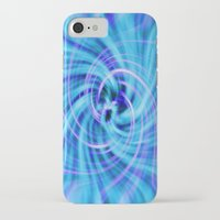 pivot iPhone & iPod Cases featuring Blue twirl by AvHeertum