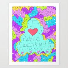 I Love Public Education Art Print