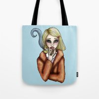 tenenbaum Tote Bags featuring Margo Tenenbaum by Hungry Designs