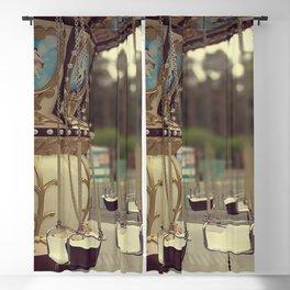 Carousel in the amusement park Blackout Curtain