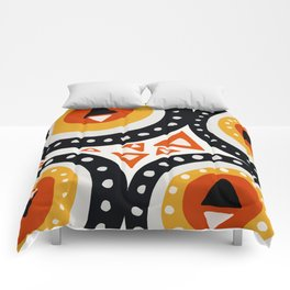 African Abstract Art Pattern Comforters